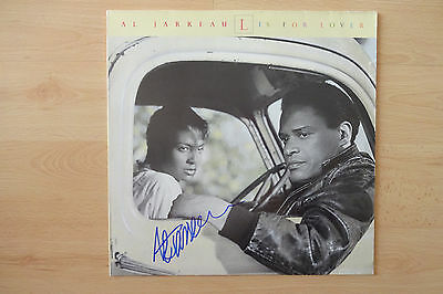 "Al Jarreau Autogramm signed LP-Cover Vinyl ""L Is For Lover"""