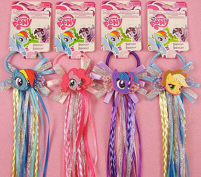 My Little Pony Girls Hair rope with colour hair pony tail ribbon Multiple new