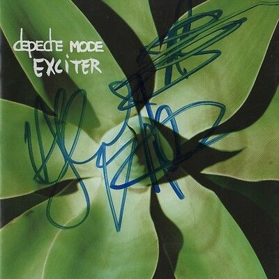 """Depeche Mode Autogramme signed CD Booklet """"Exiter"""""""