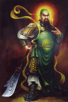 Guan Gong Three Kingdoms Guan Yu Portrait Yun Chang Oil Painting Museum Quality