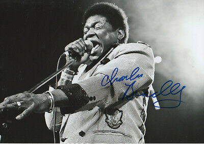 Charles Bradley signed 8x12 inch photo autograph