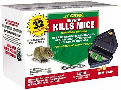 J.T. Eaton 0.5 Ounce Container Plastic Bait Holder For Use on Mice