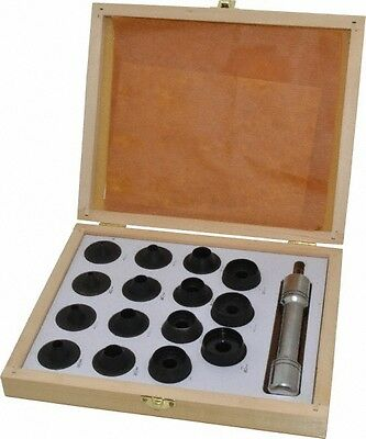 """Value Collection 16 Piece Hollow Punch Set 1/8 to 1-3/16"""" Round Shank, Comes ..."""