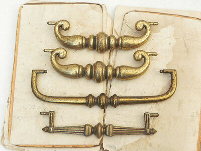 4 Salvaged Vintage Drawer Pulls Parts for Repair Repurpose Assemblage Steampunk