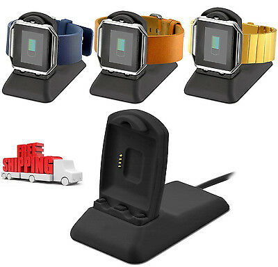 Fitbit Blaze Charger EloBeth Replacement Charging Stand Cradle Dock Adapter Hold