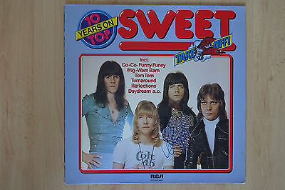 """The Sweet Autogramm signed LP-Cover """"Take Off"""" Vinyl"""