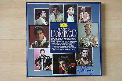 "Placido Domingo Autogramme signed LP-Cover ""Opernarien"" Vinyl"