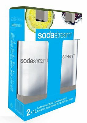 SodaStream Plastic Carbonating Bottles 1 L - Grey Pack of 2