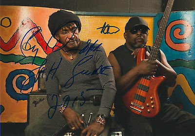 Sly & Robbie signed 8x12 inch photo autographs