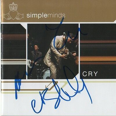 "Simple Minds Autogramme signed CD Booklet ""Cry"""