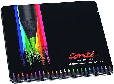 BiC Conte Colouring Pencils - Multi-Coloured, Tin of 24