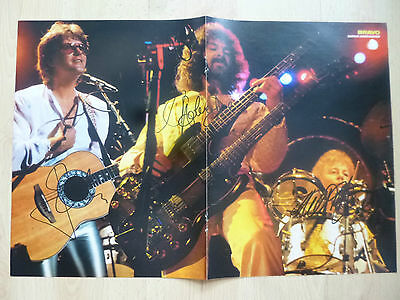 Barclay James Harvest Autogramme signed 28x41 cm Poster gefaltet
