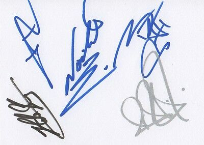 In Flames Autogramme full signed 10x15 cm Karteikarte
