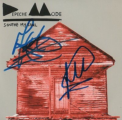 "Depeche Mode Autogramme signed CD-Cover ""Soothe My Soul"""