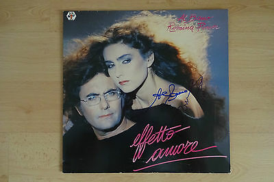 "Al Bano & Romina Power Autogramm signed LP-Cover ""Effetto Amore"" Vinyl"