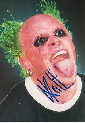 "Keith Flint ""The Prodigy"" Autogramm signed 10x15 cm Postkarte"
