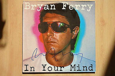"Bryan Ferry Autogramm signed LP-Cover ""In Your Mind"" Vinyl"