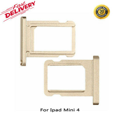 New Sim Card Tray Holder For iPad Mini 4 Champagne Gold Nano  Replacement UK