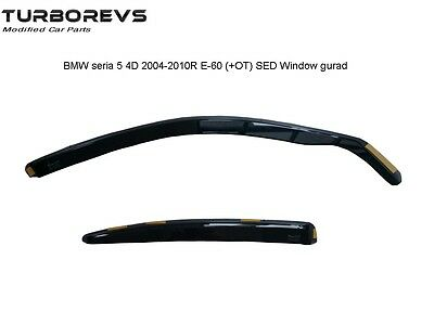 4Pcs Wind Rain Tinted Black Deflectors Window Sheild For Bmw E60 5 Series Mr008