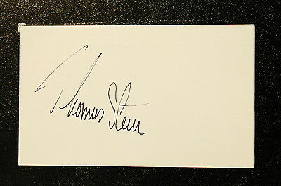 Thomas Steen Index Card Hand Autographed