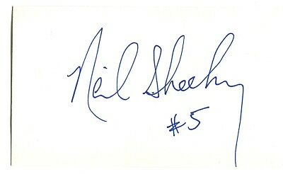 Neil Sheehy Index Card Hand Autographed