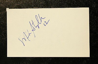 Mike Stapleton Index Card Hand Autographed