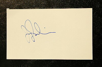 Jay Snider Index Card Hand Autographed
