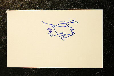 Greg Smith Index Card Hand Autographed