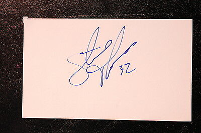 Steve Thomas Index Card Hand Autographed