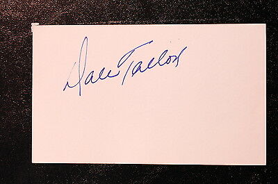 Dale Tallon Index Card Hand Autographed