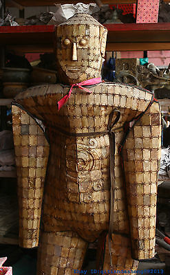 Chinese dynasty Antique Natural Old Jade Jadeite Yu Phoenix Jade clothes Armor