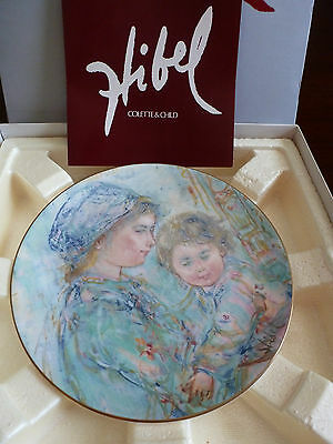 edna hibel plates - limited edition - mother and child series