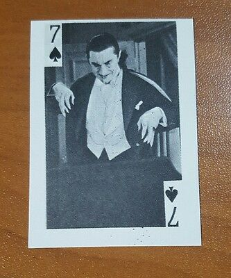 BELA LUGOSI  DRACULA CARD  1969 Globe Imports PLAYING CARD * ONLY ONE ON EBAY *