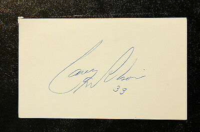 Carey Wilson Index Card Hand Autographed