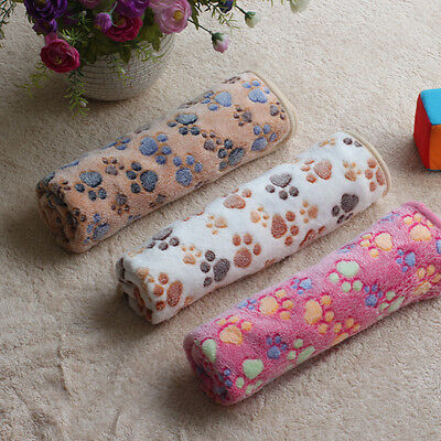Hiver Pet Chien/Chat Couverture Chaud Impression Patte Corail velours