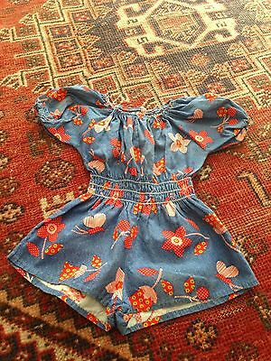 Vintage Montgomery Ward 1970s Girls One Piece Romper Baby / Toddler 12M , 2T ?
