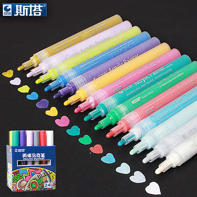 Acrylic Markers Multifunction Candy Color Highlighter Waterproof Paint Marker