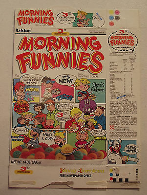 Ralston Morning Funnies Collector Edition #3 1988 Cereal Box