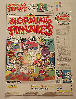 Ralston Morning Funnies Collector Edition #4 1988 Cereal Box