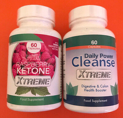 2x wild raspberry ketone xtreme 60 caps 2x daily power cleanse xtreme 60 caps eur 143 22. Black Bedroom Furniture Sets. Home Design Ideas