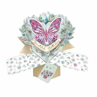 Second Nature Beautiful Butterfly Birthday Keepsake Gift Pop up Cards