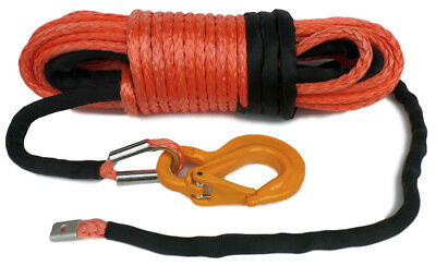 100ft (30metre)10mm Synthetic Winch Rope, & Hook, 10500KG  Dyneema  Off road.