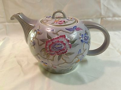 Vintage Ceramic Art Deco Wood & Son's England Chinese Rose Teapot - Very Nice!