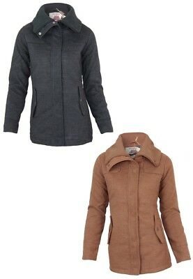 Stitch & Soul Damen Winter Mantel Jacke | Stehkragen Jacket Outdoor Taschen