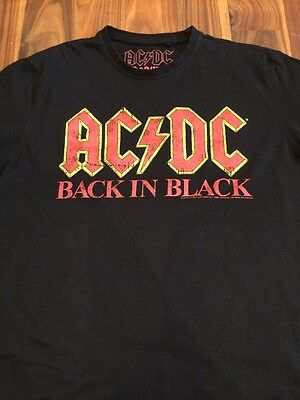 ac/dc t-shirt, Size M. Worn Once For Concert