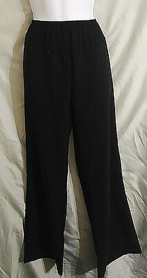 Black Front Panel Stretchy Maternity Dress or Casual Pants/Slacks Size XL