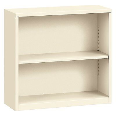 HON S30ABCL Metal Bookcase Two-Shelf 34-1/2w x 12-5/8d x 29h Putty, Putty New
