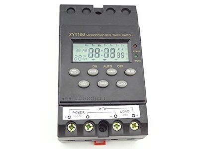 MISOL 12V Timer Switch Timer Controller LCD display,programmable timer 25A