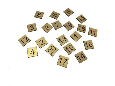 Engraved 30mm Squares - Table numbers Pubs Restaurants Clubs