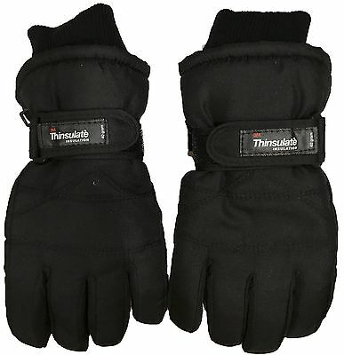 Kids 3M Thinsulate Thermal Insulation Winter Gloves 40gram Ski Water Resist